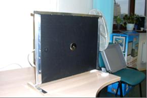 Модель акустического преобразователя. Вид спереди