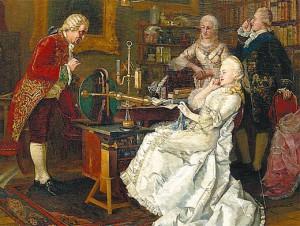 Императрица Екатерина II у Михаила Ломоносова. Картина Ивана Фёдорова (1884 год)