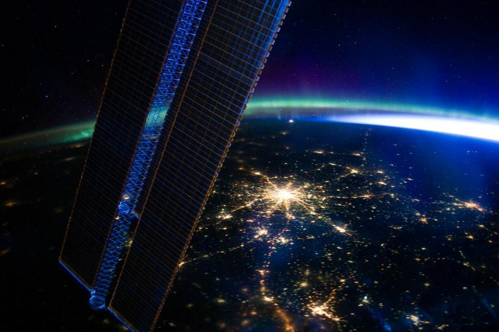 Ночная Москва. Фото с борта МКС