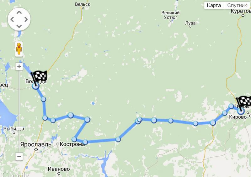 Vologda-Bui-Sudislavl-Kirov