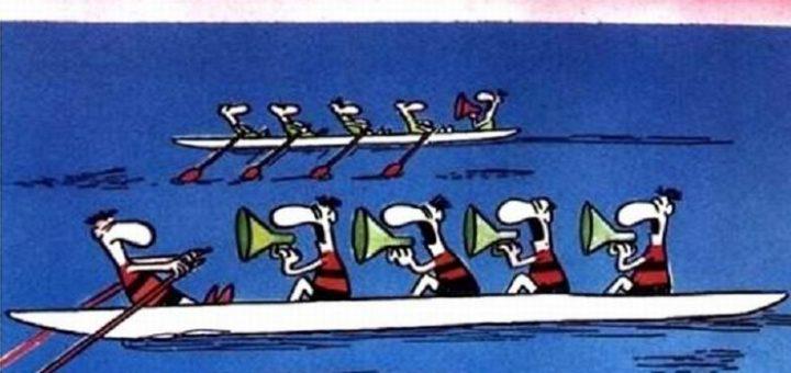 гребцы в лодке рисунки